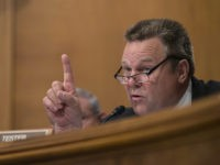 Senate Banking Committee member Sen. Jon Tester, D-Mont., questions Wells Fargo Chief Executive Officer John Stumpf, on Capitol Hill in Washington, Tuesday, Sept. 20, 2016, during the committee's hearing. Stumpf was called before the committee for betraying customers' trust in a scandal over allegations that employees opened millions of unauthorized …