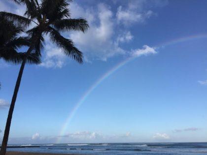 Hawaiian rainbow (Joel Pollak / Breitbart News)