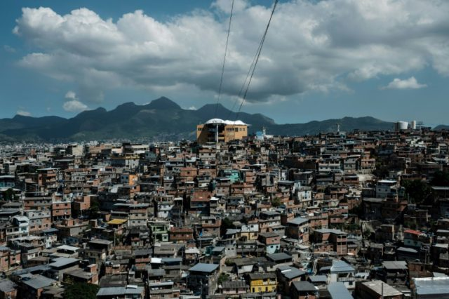 The cable car over the Alemao favela in Rio de Janeiro is no longer running