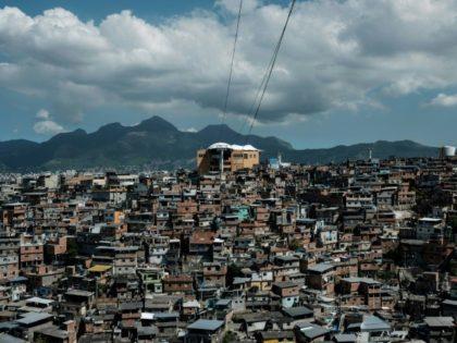The cable car over the Alemao favela in Rio de Janeiro is no longer running