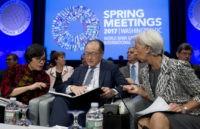 Christine Lagarde, Jim Yong Kim, Sri Mulyani Indrawati,