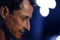 Anthony Weiner, former U.S. Democrat Representative from New York, speaks to the media before the start of the Democratic National Convention (DNC) in Philadelphia, Pennsylvania, U.S., on Tuesday, July 26, 2016. Democrats began their presidential nominating convention Monday with a struggle to fully unite the party, following a dramatic day …