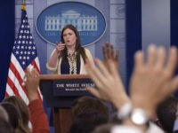 Deputy White House Press Secretary Sarah Huckabee Sanders speaks during the daily briefing at the White House in Washington, Wednesday, May 10, 2017. Sanders was asked about the firing of FBI Director James Comey, President Donald Trump's meeting with Russian Foreign Minister Sergey Lavrov and other topics. (AP Photo/Susan Walsh)
