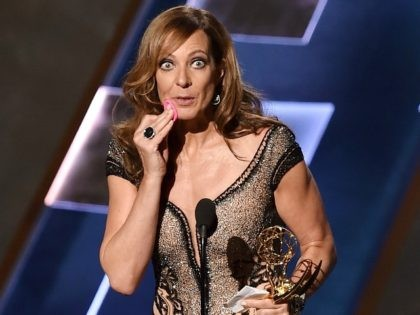 Allison Janney onstage during the 67th Annual Primetime Emmy Awards at Microsoft Theater on September 20, 2015 in Los Angeles, California.