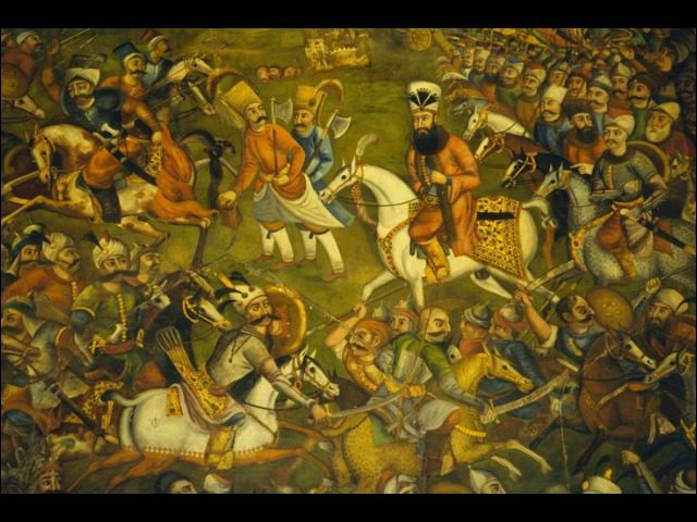 Artwork of the Battle of Chaldiran (1514)