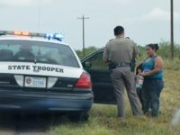 BP Photo - Texas DPS with Illegal Immigrant