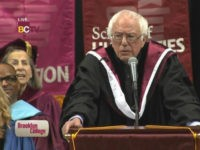 Bernie Sanders gives commencement address at Brooklyn College on May 30, 2017.