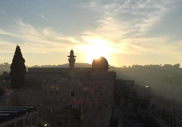 Al Aqsa sunrise, Jerusalem (Joel Pollak / Breitbart News)