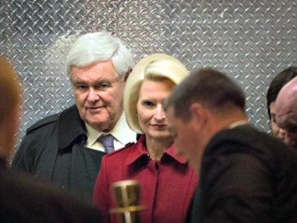 Callista and Newt Gingrich Getty