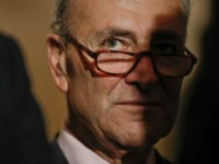 Sen. Chuck Schumer, D- NY., listens to reporters questions during a media availability, Tuesday, May 2, 2017, on Capitol Hill in Washington. (AP Photo/Pablo Martinez Monsivais)