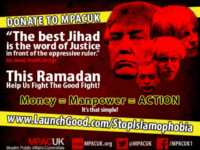 Leading Muslim Group Calls for Ramadan 'Jihad' Alongside Trump, Farage, May Headshots