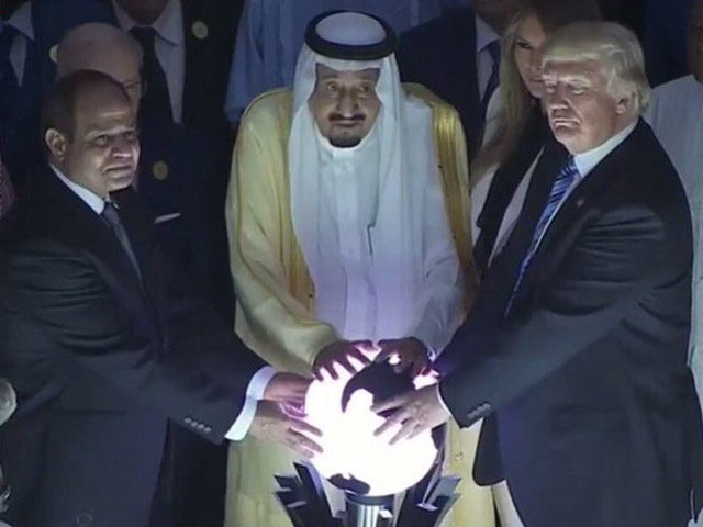 Image result for trump with ball saudi arabia