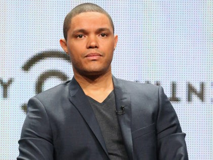 BEVERLY HILLS, CA - JULY 29: Host Trevor Noah speaks onstage during 'The Daily Show with Trevor Noah' panel discussion at the Viacom Networks portion of the 2015 Summer TCA Tour at The Beverly Hilton Hotel on July 29, 2015 in Beverly Hills, California. (Photo by Frederick M. Brown/Getty Images)
