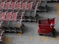 NEW YORK - AUGUST 18: A Target shopping cart (R) stands among other carts in a parking lot outside of Target's new Harlem store August 18, 2010 in New York City. Target Corporation's quarterly earnings rose 14 percent, the company's chief financial officer Douglas Scovanner announced today. (Photo by Chris …