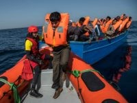 Libyan coastguard / migrant boat
