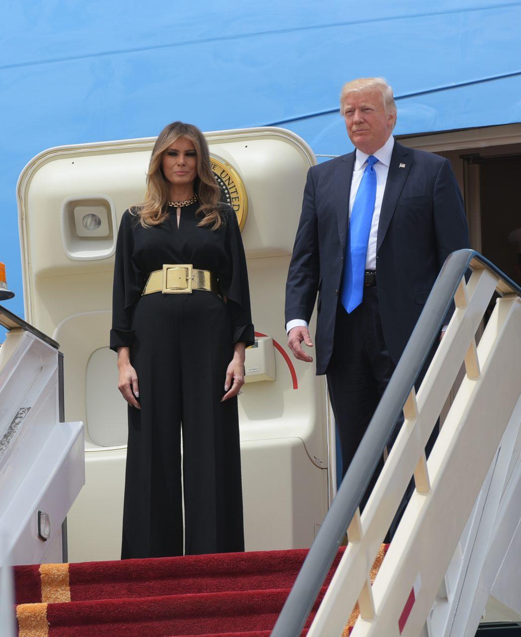 Photos First Lady Melania Trump Radiates In High Fashion