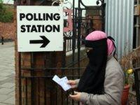 Islam / Muslim face Veil / niqab / Burqa / Voting Polling Stating Birmingham