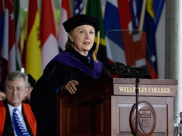 Hillary Clinton at Wellesley (Darren McCollester / Getty)