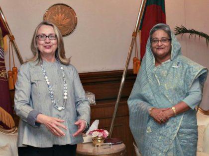 Hillary, PM Bangledesh Reuters
