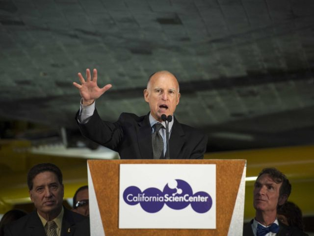 Jerry Brown space center (Bill Ingalls / NASA / Getty)