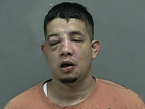 Police say a woman beat Joe M. Sotello with a baseball bat after he allegedly to rob her.