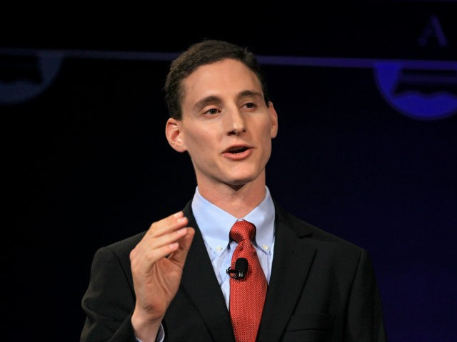 FILE-This Monday, Oct. 15, 2012 file photo shows Ohio treasurer Josh Mandel at the City Club in Cleveland. Executives of at least nine of the 15 manufacturing companies whose skilled-trades workers have won a new award established by Mandel have donated hundreds of thousands of dollars to Republican candidates, including …