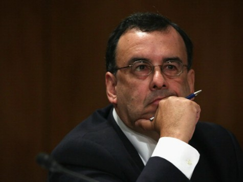 Director of the Justice Department's Executive Office of Immigration Review Juan Osuna testifies during a hearing before the Senate Homeland Security and Governmental Affairs Committee July 9, 2014 on Capitol Hill in Washington, DC. The committee held a hearing on 'Challenge at the Border: Examining the Causes, Consequences, and Responses …