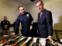 The Los Angeles Police Department's annual gun buyback netted about 770 guns to be melted down this year, and LAPD Chief Charlie Beck reacted by suggesting the city will be safer because the guns are gone.