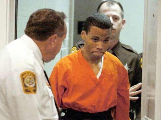 The notorious Beltway sniper Lee Boyd Malvo (above) had four life sentences thrown out by a federal judge on Friday because they were retroactively deemed unconstitutional.