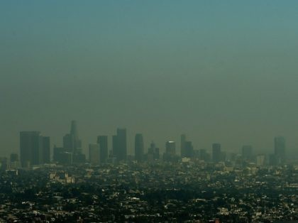 Los Angeles skyline Smog (Mark Ralston / AFP / Getty)