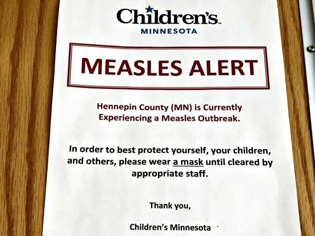 Measles Alert Notice Amy ForlitiAP