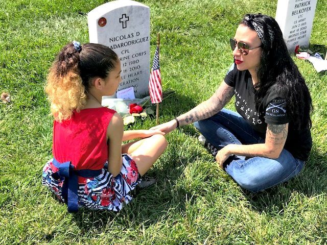 Mother, Daughter Memorial Day Gravesite