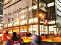 NYT Building AP Mark Lennihan