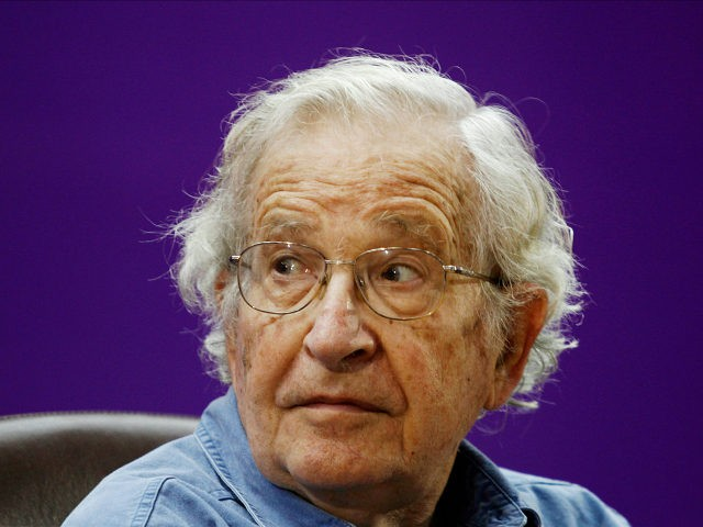FILE - In this Saturday, Oct. 20, 2012, file photo, Jewish-American scholar and activist Noam Chomsky attends a conference at the Islamic University in Gaza City. Chomsky has issued a video endorsement of a campaign started by his daughter Aviva and the Immigrant Worker Center Collaborative (IWCC) asking U.S. President Barack Obama to pardon the 11 million immigrants who live illegally in the U.S. and who may be vulnerable under a Trump administration. (AP photo/Hatem Moussa, File)