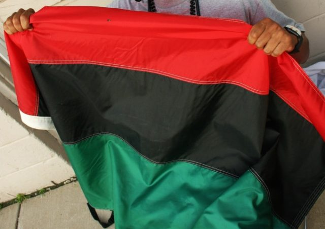 Pan African Flag (erik aldrich / Flickr / CC / Cropped)
