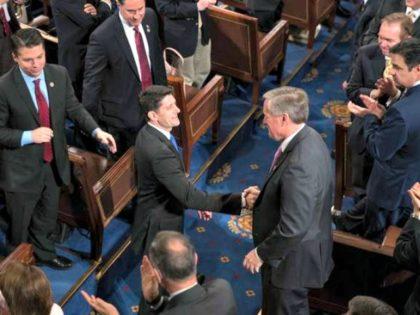 Paul Ryan, Mark Meadows Shake J. Scott ApplewhiteAP