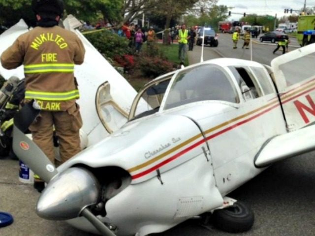 Plane Crash Mukilteo Police Department via Twitter