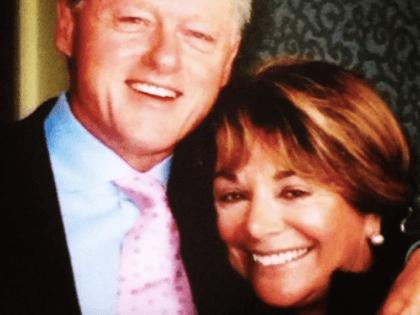 Rep. Anna Eshoo with Bill Clinton (Instagram)