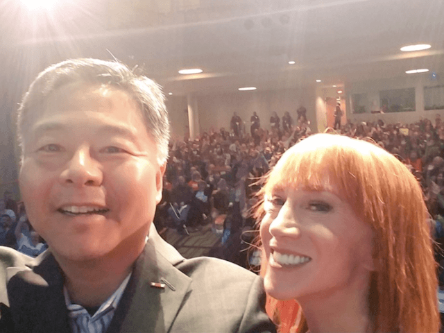 Ted Lieu and Kathy Griffin (Screen shot / Twitter)