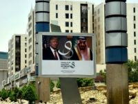 Trump Billboard Saudi Prince FAYEZ NURELDINE:AFPGetty