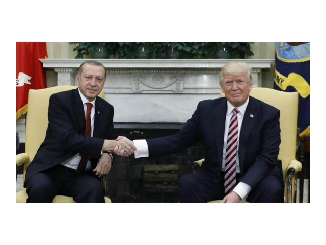 Turkish President Recep Tayyip Erdogan and President Donald Trump discuss expanding cooperation