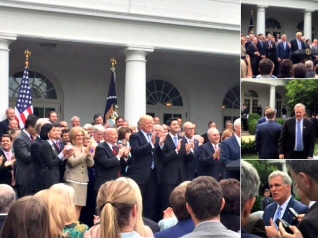 Trump, Rose Garden, ACAH Passes house @MichelleDiana