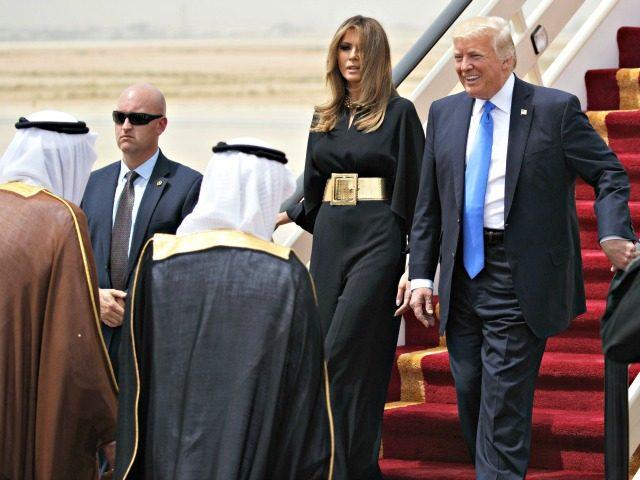Trumps, Red Carpet, Saudi Arabia AP