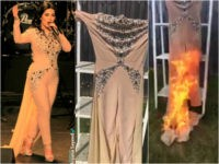 Female Afghan Singer Sets Haram Skintight Dress on Fire After Islamic Outrage