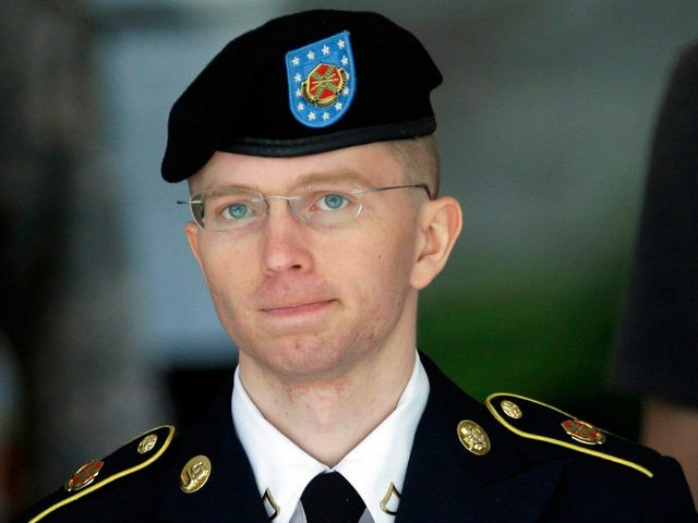 FILE - In this June 5, 2013, file photo Army Pvt. Chelsea Manning, then-Army Pfc. Bradley Manning, is escorted out of a courthouse in Fort Meade, Md., after the third day of his court martial. Advocates of Manning, imprisoned for sending classified information to an anti-secrecy website, presented to the …