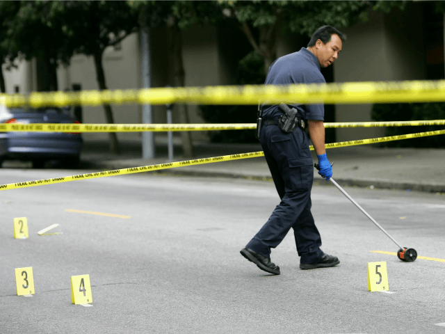 A San Francisco Police officer investigates the scene where police say a driver was involved in a hit and run on Sutter Street in San Francisco, Tuesday, Aug. 29, 2006. One person was killed and several others were injured when a man intentionally targeted pedestrians with his sport utility vehicle …