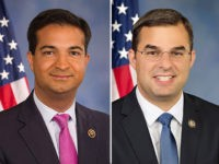 The official Congressional portraits of Reps. Carlos Curbelo )R-FL) and Justin Amash (R-MI).
