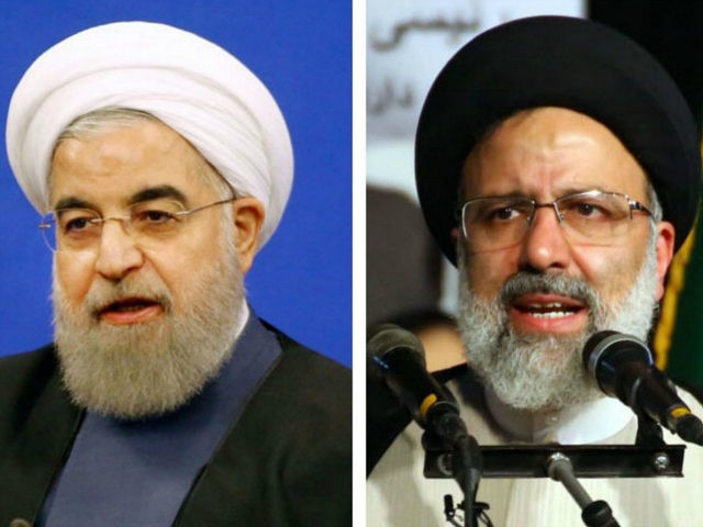 Undated combined photo shows Iranian President Hassan Rouhani (L) and Seyed Ebrahim Raisi, a former attorney general. Voting got under way on May 19, 2017, for Iran's presidential election, widely seen as a choice between moderate reformist Rouhani and hard-line conservative Raisi. (Kyodo) ==Kyodo (Photo by Kyodo News via Getty …