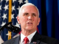 FILE - In this April 17, 2017, file photo, Vice President Mike Pence speaks at the Department of Veterans Affairs in Washington. The Indiana Supreme Court is denying a request from Democratic attorney William Groth, who wanted his public records case against Pence to be given a fresh look. The …