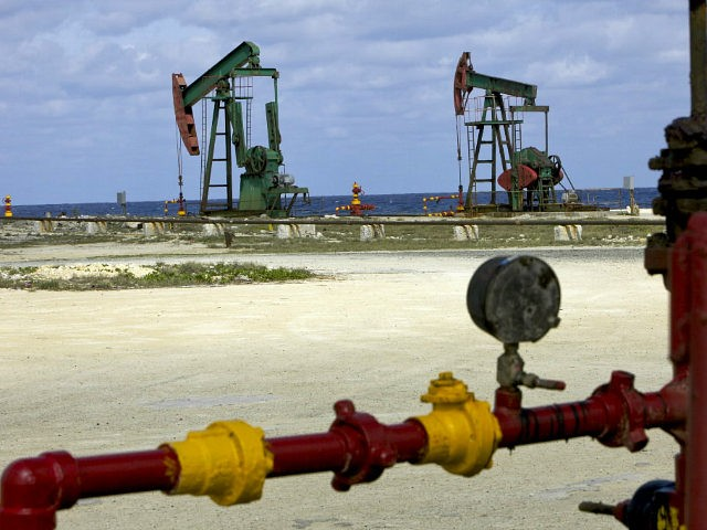 Oil pumpjacks, also known as nodding donkeys, operate at a state-owned Cupet SA facility along the northern coast of Cuba on Tuesday, March 16, 2010. The Greater Antilles, which includes Cuba, Haiti, the Dominican Republic, Puerto Rico and their offshore waters, probably hold at least 142 million barrels of oil …
